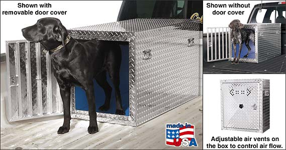 Truck Bed Dog Kennel >> Custom Dog Boxes custom diamond plate aluminum